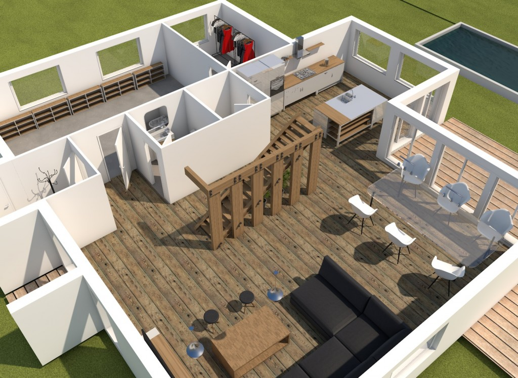 rendu 3D design house render